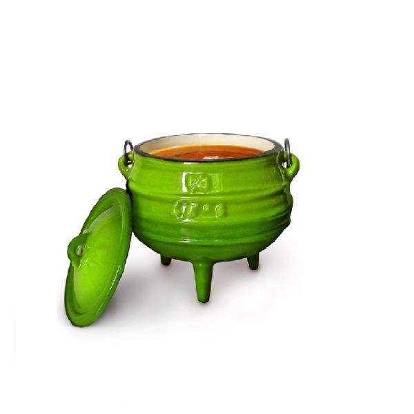 #1\4 3 leg green pot