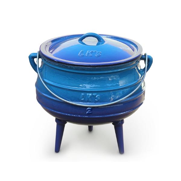 3 leg pot #2 blue 147-1 temp